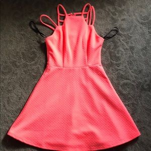 Madonna Material Girl dress XS neon pink